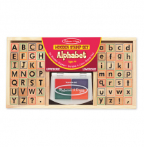 Wooden Alphabet Stamp Set