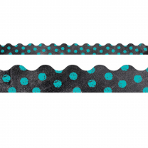 Turquoise Dots on Chalkboard Trimmer