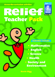 Relief Teacher Pack Book - Ages 11+