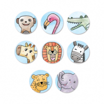 Safari Friends Spot Stickers