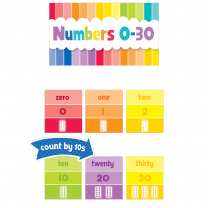 Numbers 0-30 Painted Palette Mini Bulletin Board