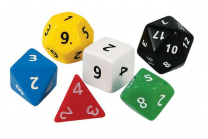 Jumbo Polyhedra Dice - Set of 6
