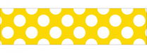 Yellow Polka Dots Trimmer Roll