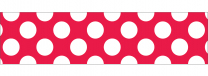 Red Polka Dots Trimmer Roll