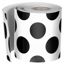 Black Dots on White Trimmer Roll