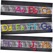 Chalkboard Alphabet Line Mini Bulletin Board
