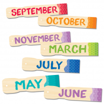 Painted Palette Months of the Year Mini Bulletin Board
