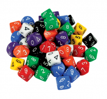 Large 10 Sided Dice (0-9)