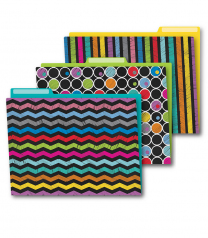 Colourful Chalkboard File Folders