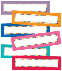 Rainbow Dots Magnetic Labels