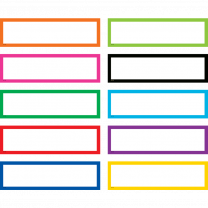 Colourful Classroom Labels