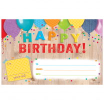 Happy Birthday! Upcycle Style Certificates