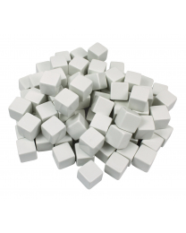 Blank White Dice - Set of 10