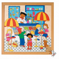 Icecream Parlour Wooden Puzzle