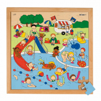 Swimming Pool Wooden Puzzle