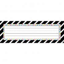 Bold Stripes and Dots Classroom Labels