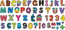 Uppercase Letters Stickers