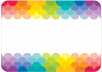 Rainbow Ombre Name Tags