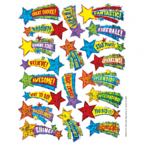 Shooting Stars Foil Stickers