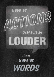 Your Actions-Chalkboard Poster