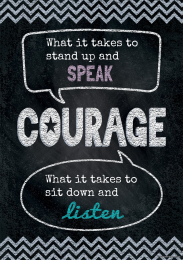 Courage-Chalkboard Poster
