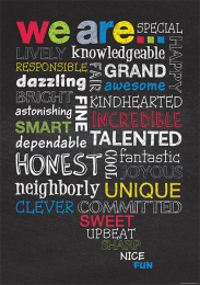 We Are (Chalkboard) Poster