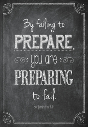 By Failing to Prepare-Chalkboard Poster