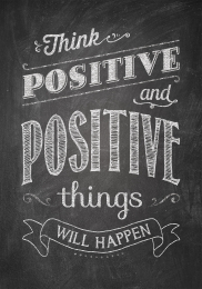 Think Positive-Chalkboard Poster