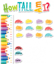 Painted Palette Growth Chart Mini Bulletin Board