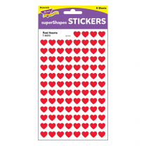 Red Hearts Spot Stickers