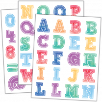 Watercolour Letter Stickers