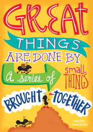 Great Things are Done Poster