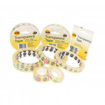 Marbig Clear Tape - 1.8cm x 66cm (76.2mm core)