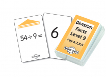 Division Facts Level 2 Smart Chute Cards