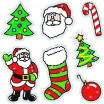Christmas Sparkle Stickers