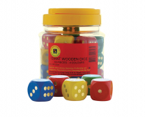 Large Wooden Dot Dice - Set of 16