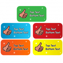 Thumbs Up Rectangle Personalised Stickers