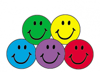 Colourful Smiles Spot Stickers