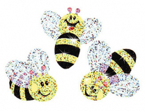Buzzing Bumblebees Sparkle Stickers