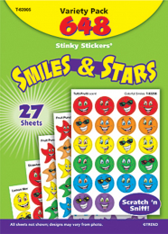 Smiles and Stars Stinky Stickers Value Pack
