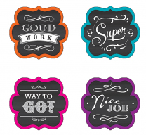 Chalkboard Brights Reward Stickers