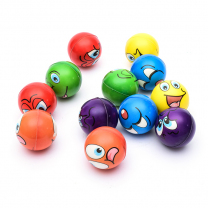 Emoji Coloured Squeeze Balls - Pack of 6