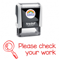 Please check your work Stamp