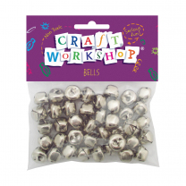 Silver Craft Bells - Pack of 40