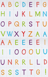 Magnetic Uppercase Sketch Letters