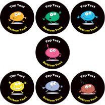Smiley Blobs Personalised Stickers