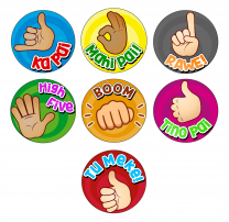Hand Gestures Te Reo Reward Stickers