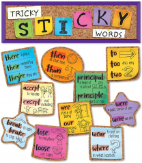 Tricky Sticky Words Mini Bulletin Board Set