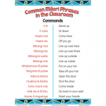 Common Maori Classroom Phrases Charts