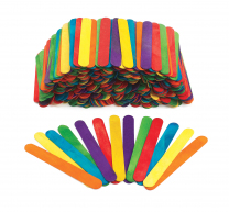 Jumbo Coloured Sticks - 500 Pieces